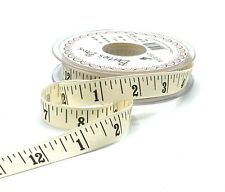 15mm Tape Measure Ribbon - Measuring Tape - Inch Ruler - Sewing Gift Wrap