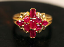 14k Yellow Gold 1.25ctw Madagascar Ruby Ring - size 8.25!