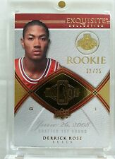 DERRICK ROSE 2008-09 UPPER DECK EXQUISITE GOLD BASE ROOKIE RC #22/25! NON AUTO!