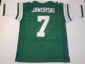 UNSIGNED CUSTOM Sewn Stitched Ron Jaworski Green Jersey - M, L, XL, 2XL, 3XL