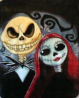 Ardras Art Together Forever Skeleton Medium Weight Queen Plush Throw Blanket