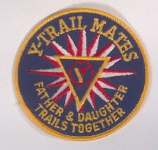 "Vintage YMCA Y Trail Mates Father Daughter Trails Together 4"" Patch Badge"