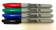 SHARPIE Permanent FINE TIP Assorted Marker Pen Fine Point Pack of 4 Pens