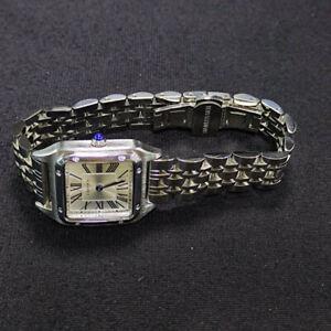 Cartier Watch Tank Ladies Silver Quartz w/box
