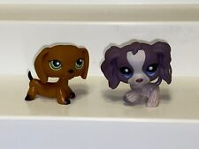 Littlest Pet Shop LPS #1209 Figure Puppy Cocker Spaniel Dog & Dachshund #139