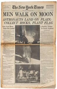 """""""New York Times"""" Newspaper From 21 July 1969"""