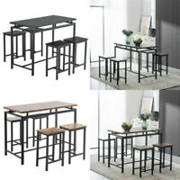 5Pcs Dining Table Set Wooden Table 2 Chairs Kitchen Dining Room Furniture Set US