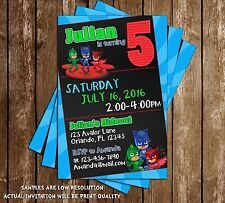 PJ Masks - Disney Jr - Birthday Invitations - 15 Printed W/envelopes