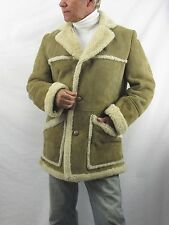 Knight Taylors LTD Brown Sherling Sherpa Coat  Men's 42  Made in New Zealand WOR