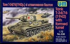 UM-MT Models 1/72 Soviet T-34/76 TANK 1942 Version with Stamped Turret
