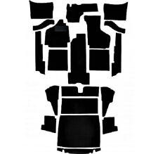 Teppichsatz VW Karmann Ghia Cabrio Typ 14 Schlinge schwarz gekettelt