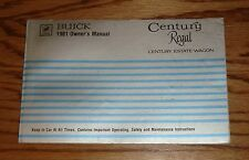 Original 1981 Buick Century / Regal Owners Operators Manual 81