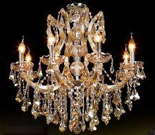 Cognac 8 Arms/bulbs Modern Crystal Chandelier Ceiling Light Living Room Lamp