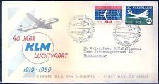 Nederland  FDC E 40  met getypt adres en dichte klep.