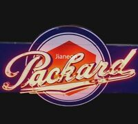 RARE Designed PACKARD APPROVED SERVICE AUTO GAS & OILS PUMP REAL NEON SIGN LIGHT