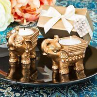 Elephant Tealight Candle Holder, Indian Wedding Favour Gold,Sliver,White, Diwali