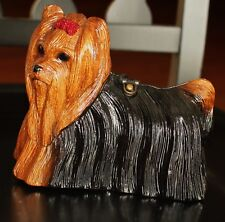 TIMMY WOODS YORKIE YORKSHIRE TERRIER DOG PURSE CLUTCH MINAUDIERE CRYSTALS BOW