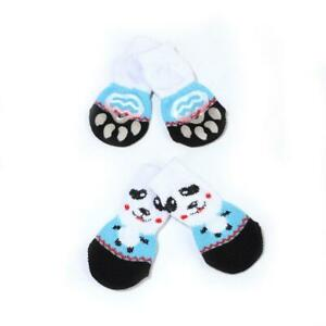 4pcs Soft Anti-Slip Dog Socks Boots Puppy Pet Cat Shoes Booties Paw Protector