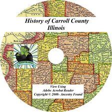 1878 History & Genealogy of CARROLL County Illinois IL