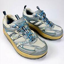 Skechers Shape Ups Blue Sz 9 Walking Toning Athletic Womens Shoe 11814 SIlver