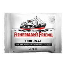 24 x BUSTINE CARAMELLE FISHERMAN'S FRIEND ORIGINAL MENTOLO ED EUCAPLITO DA 25 GR