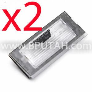 Range Rover L322 License Plate Lamp Light Bulb LENS Rear Tailgate PAIR 03~12 X2