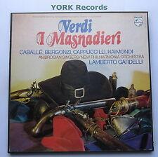 6703 064 - VERDI - I Masnadieri GARDELLI / CABALLE - Ex Con 3 LP Record Box Set
