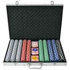 vidaXL Pokerset 1000 Chips Ruit Aluminium Poker Speel Set Sets Pokerchip Kaart