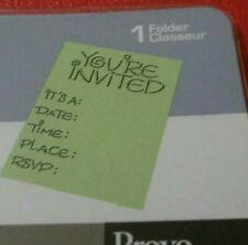 Cuttlebug Invitation Embossing Folder. Provo Craft. Emboss. Party Invite