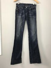 ROCK & REPUBLIC JEANS Distressed Boot Cut  Womens Size 24 inseam 35
