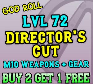 Borderlands 3 [DIRECTOR'S CUT] Buy 2 Get 1 Free 💎 LVL 72 GOD ROLL [PS5/XBOX/PC]
