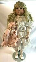 "Dynasty Doll Collection Anna Collection ""Raena"" Porcelain Collectible Doll"