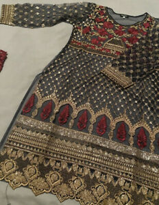 Pakistani Wedding Party Salwar Kameez Kurta Size: Medium 8/10/12