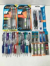Lot Of 21 New Amp Used Pentel Bic Paper Mate Mechanical Pencils With Lead Amp Easers
