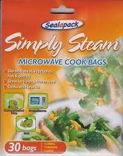 30 X FORNO A MICROONDE CUCINARE semplicemente Sacchetti a vapore verdura, carne, pesce, pollame