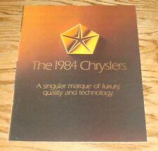 Original 1984 Chrysler Full Line Sales Brochure 84 New Yorker LeBaron