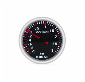 "52mm 2""  Smoked Turbo Boost Gauge -1 to 3 Bar Pressure"