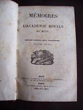 Mémoires de l'académie royale de Metz 1844-1845 1845-1846