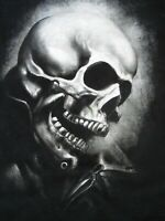 Marvel Mad Engine Ghost Rider Skull Graphic T Shirt Men's Size M 38-40 Black