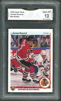 1990 Upper Deck #63 Jeremy Roenick RC Rookie Card Graded GMA 10 GEM MINT