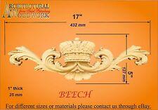"Hand carved solid Hardwood Decor 17"" x 5"" x 1"""