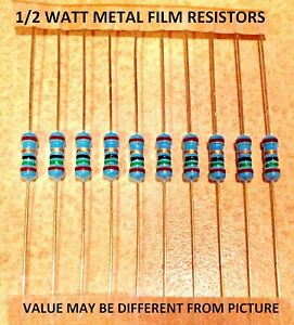 69.8  Ohm 1//4 Watt 1/% Metal Film Resistor 5 Pieces Prime Parts US Seller