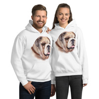 Unisex Bulldog Hoodie, Comfy Bulldog Pullover Hooded Sweatshirt,Dog Funny Hoodie
