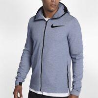 Nike Dry Hyper Elite Showtime Basketball Hoodie Mens Blue Size UK Medium, Large