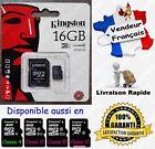 45 MB/s KINGSTON MicroSD SDHC 16 Go Carte Mémoire Class 10 aussi en 4 8 32 64 Gb