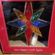 "Lighted Tree Topper 11 X 7"" Size New By Trim A Home"