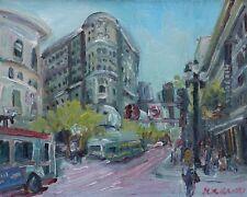 Market Street San Francisco California Impressionism Oil w/frame