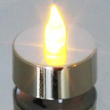 Decor Lites PLATA velas pequeñas - Pack de 6