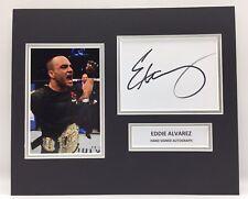 More details for rare eddie alvarez ufc signed photo display + coa autograph mma boxing
