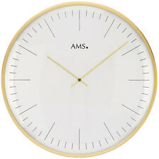 Ams 50 Wall Clock Kitchen Office Glass Dining Room Hours Work 181